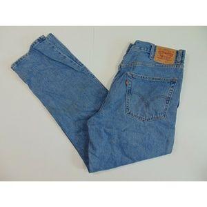 Levis 550 Men 38 x 32 Straight Regular Blue Jeans